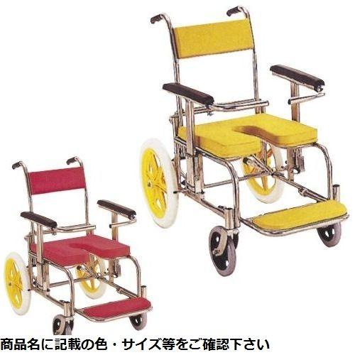 カワムラサイクル シャワー用車いす(背前後式) KS2(ステンレスセイ) イエロー CMD-0006997001【納期目安:1週間】