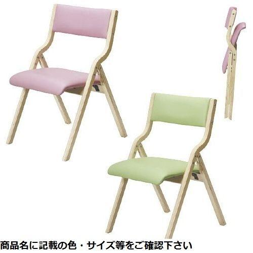 その他 木製折りたたみチェア FSW-33 ピンク CMD-0087155702【納期目安:1週間】