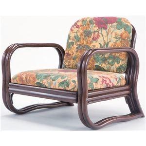 その他 思いやり 座椅子/パーソナルチェア 【ロータイプ 幅約55cm×座面高約24cm】 天然籐製 軽量 耐荷重量:約80kg ウレタン【代引不可】 ds-2166014