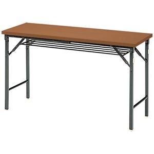その他 ジョインテックス 脚折りたたみテーブル TWS-M1245WN 天板:ウォールナット ds-2166545