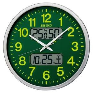 その他 セイコー 電波掛時計 グリーン KX237H ds-2167073