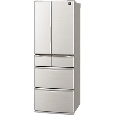 シャープ 6ドア冷蔵庫 (455L・フレンチドア) SJ-F462E-S【納期目安:2週間】