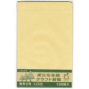 その他 (まとめ)菅公工業 間伐紙クラフト封筒 シ126 角2 100枚【×5セット】 ds-2169846
