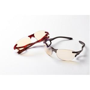 その他 鼻でかけない薄い色のサングラス 「エアサイト」 レッド ds-2167281
