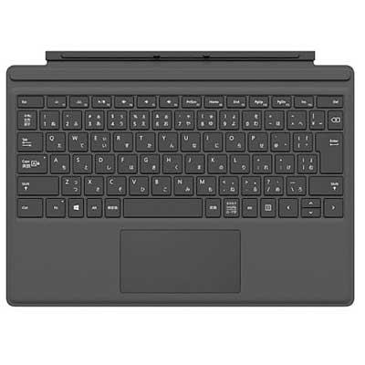 マイクロソフト Surface Pro タイプ カバー ・バックライト搭載 ・拡張ガラス製タッチパッド ・マグネット着脱 FMM-00019
