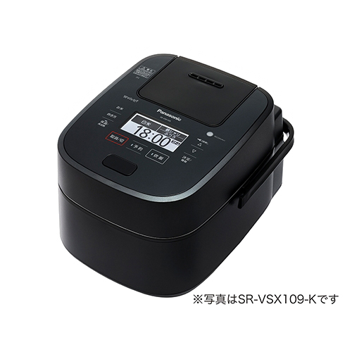 パナソニック Wおどり炊き搭載 1合~1升 スチーム&可変圧力IHジャー炊飯器 (ブラック) SR-VSX189-K【納期目安:06/01発売予定】
