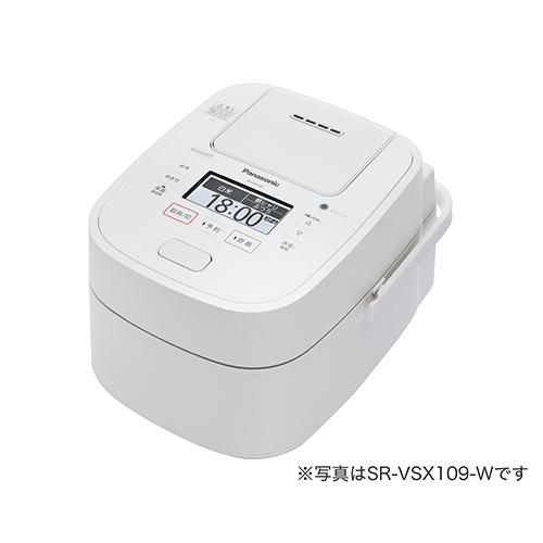 パナソニック Wおどり炊き搭載 1合~1升 スチーム&可変圧力IHジャー炊飯器 (ホワイト) SR-VSX189-W【納期目安:06/01発売予定】
