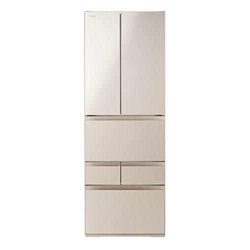 東芝 VEGETA 6ドア冷蔵庫 (509L・フレンチドア) サテンゴールド GR-R510FH-EC【納期目安:2週間】