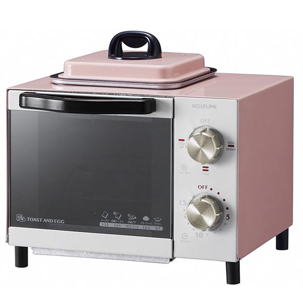 その他 【4個セット】コイズミ 目玉焼きも焼けるオーブントースター1台(ピンク) 2214281