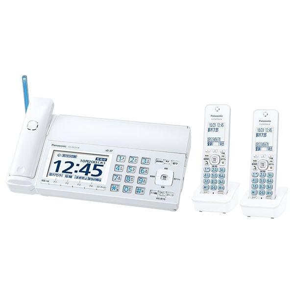 パナソニック デジタルコードレス普通紙ファクスおたっくす(子機2台付き)ホワイト KX-PD725DW-W
