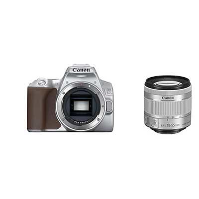 キヤノン デジタル一眼レフカメラ EOS Kiss X10シルバ+EF-S18-55 IS STM セット お一人様1台限り KISSX10SL-1855ISSTMLK【納期目安:4/25発売予定】