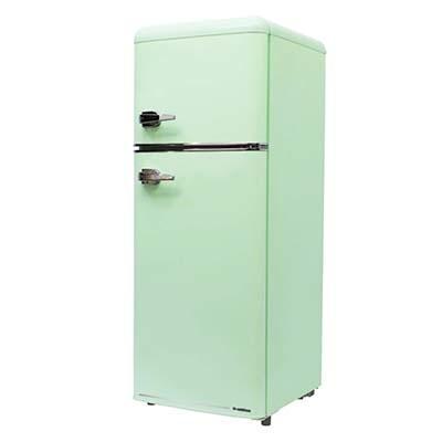 エスキュービズム 2ドア レトロ冷凍/冷蔵庫 115L (ライトグリーン) WRE-2115G