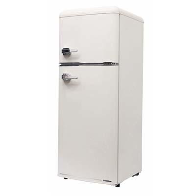 エスキュービズム 2ドア レトロ冷凍/冷蔵庫 115L (レトロホワイト) WRE-2115W