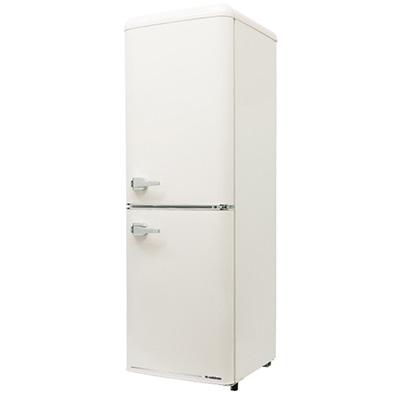 エスキュービズム 2ドア レトロ冷凍/冷蔵庫 133L (レトロホワイト) WRE-2133W