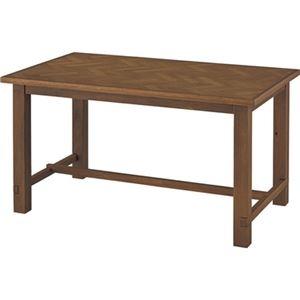 その他 シンプル ダイニングテーブル 【ブラウン 幅135cm】 木製 ウレタン塗装 『クーパス』 〔リビング キッチン 店舗 飲食店〕【代引不可】 ds-2173563