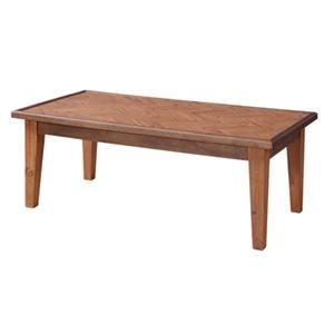 その他 ローテーブル/センターテーブル 【幅110cm】 長方形 木製 ラッカー塗装 〔リビング ダイニング〕 ds-2172987