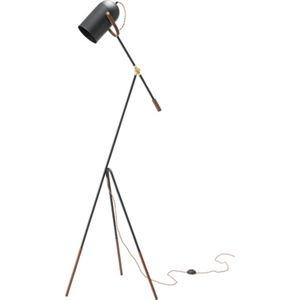 その他 モダン スタンドライト/照明器具 【幅69cm】 スチール アルミ 電球付き 〔リビング ダイニング 寝室 ベッドルーム〕 ds-2173135