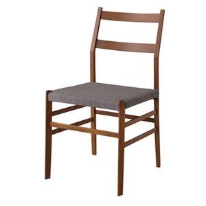 その他 ダイニングチェア/食卓椅子 2脚セット 【幅51.5cm】 木製 ウレタン塗装 ウィービングベルト 〔キッチン 台所 店舗〕 ds-2173445