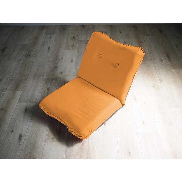 その他 ズレ落ち防止加工 フィット座椅子 オレンジ (包装・のし可) 4511412989242【納期目安:1週間】