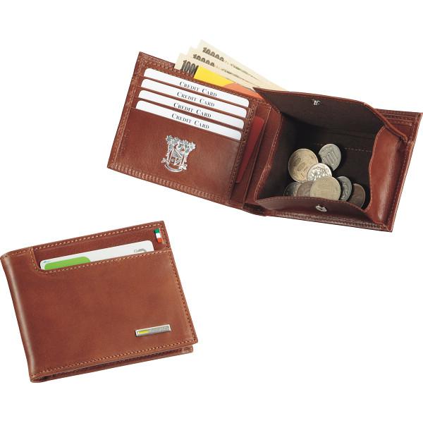 その他 イタリア製バケッタレザー 二つ折り財布 ブラウン (包装・のし可) 4547484009434【納期目安:1週間】