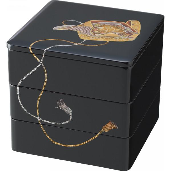 その他 紀州塗 蔵 三段重箱 黒 宝箱 (包装・のし可) 4562192020298【納期目安:1週間】