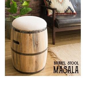 その他 《完成品》樽型スツール ホワイト(帆布)収納スツール 木製 たる型 収納ボックス インテリアスツール 木製収納スツール 椅子 CH-L3651 ds-2177573