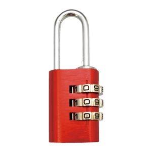 その他 (まとめ)WAKI アルミのカギ 3段番号可変式錠 レッド【×30セット】 ds-2178066