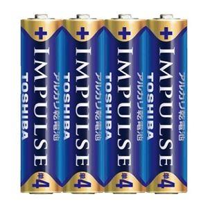 その他 (まとめ)東芝 インパルス アルカリ乾電池 単4電池 4個パック【×50セット】 ds-2178652