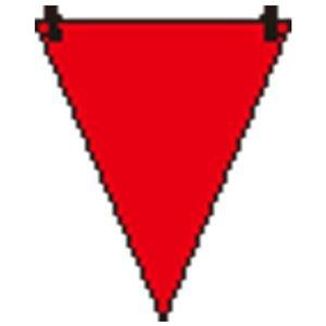その他 (まとめ)ユニット 三角旗 赤無地/372-61【×100セット】 ds-2178697