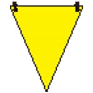 その他 (まとめ)ユニット 三角旗 黄無地/372-60【×100セット】 ds-2178698