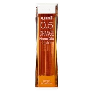 その他 (まとめ)三菱鉛筆 ナノダイヤC芯0.5 オレンジ U05202NDC.4【×100セット】 ds-2179013