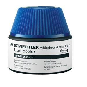 その他 (まとめ)ステッドラー ルモカラーボードマーカーインク ブルー【×30セット】 ds-2179110