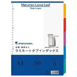 その他 (まとめ)マルマン ラミネートタブインデックスLT4005 A4 10冊【×10セット】 ds-2179601