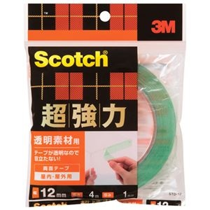 その他 (まとめ)スリーエム ジャパン 超強力両面テープ透明素材用STD-12 12mm×4m【×30セット】 ds-2180861