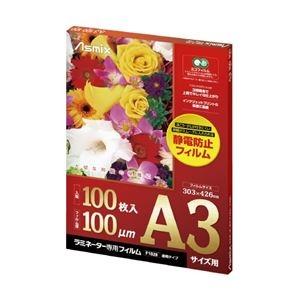 その他 (まとめ)アスカ ラミネートフィルムF1028 100μm A3 100枚【×10セット】 ds-2181112