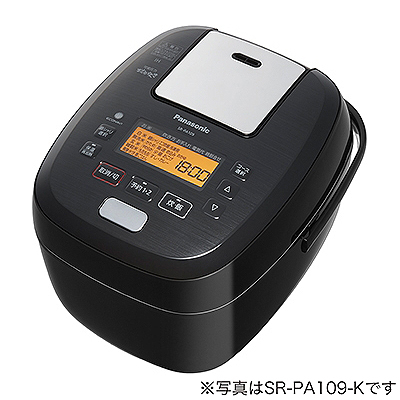 パナソニック 可変圧力IHジャー炊飯器 1升炊き ブラック SR-PA189-K【納期目安:7/1発売予定】
