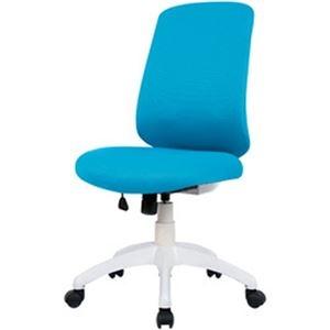 その他 オフィスデポ オリジナル ミドルバックファブリックチェア ブルー 1脚 ds-2184983