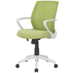 その他 オフィスデポ オリジナル ミッドバックメッシュチェア グリーン 1脚 ds-2185015