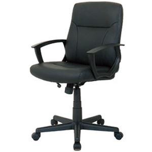 その他 オフィスデポ オリジナル マネージャーミッドバックチェア ブラック 1脚 ds-2185017
