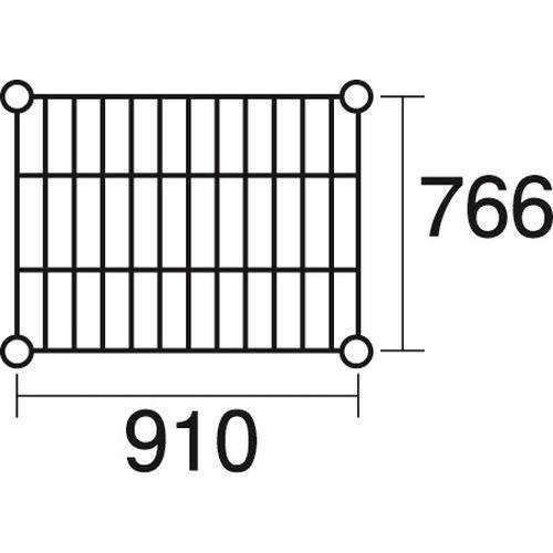 その他 ステンレスエレクター 棚 SLMS910 KND-137117
