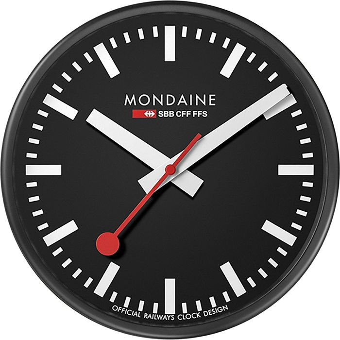 モンディーン ウォールクロック ブラック 25 A990.CLOCK.64SBB