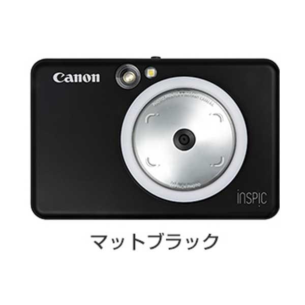 キヤノン iNSPiC インスタントカメラプリンターマットブラック ZV-123-MBK【納期目安:1週間】