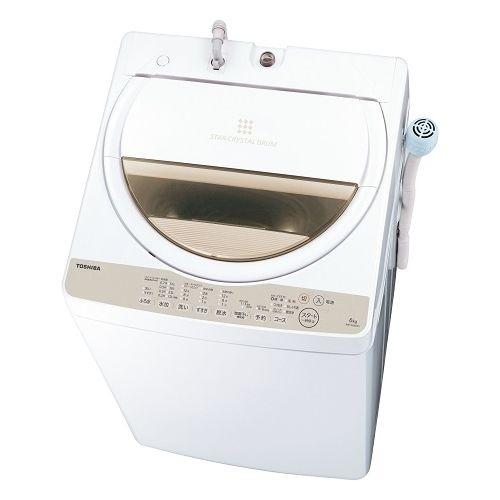 東芝 全自動洗濯機 (洗濯脱水6kg) グランホワイト AW-6G8-W【納期目安:07/上旬発売予定】