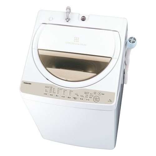 東芝 全自動洗濯機 (洗濯脱水7kg) グランホワイト AW-7G8-W【納期目安:07/下旬発売予定】