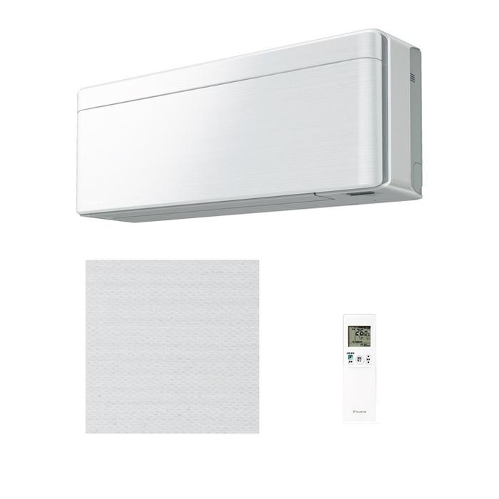 ダイキン スタイリッシュエアコン【risora】(主に14畳)(単相200V)ファブリックホワイト S40WTSXP-F