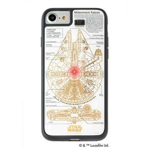 その他 STAR WARS スター・ウォーズ グッズコレクション FLASH M-FALCON 基板アート iPhone 7/8ケース 白 F7/8W ds-2188383
