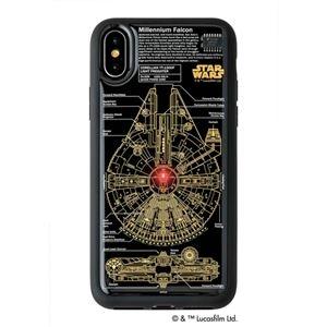 その他 STAR WARS スター・ウォーズ グッズコレクション FLASH M-FALCON 基板アート iPhone Xケース 黒 F10B ds-2188384