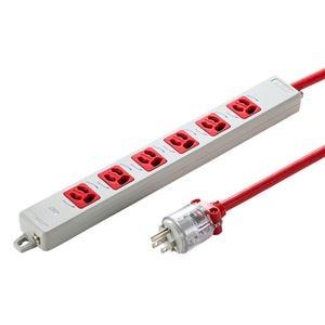 その他 サンワサプライ 医用接地プラグ付き電源タップ レッド TAP-HPM6-5R ds-2188660
