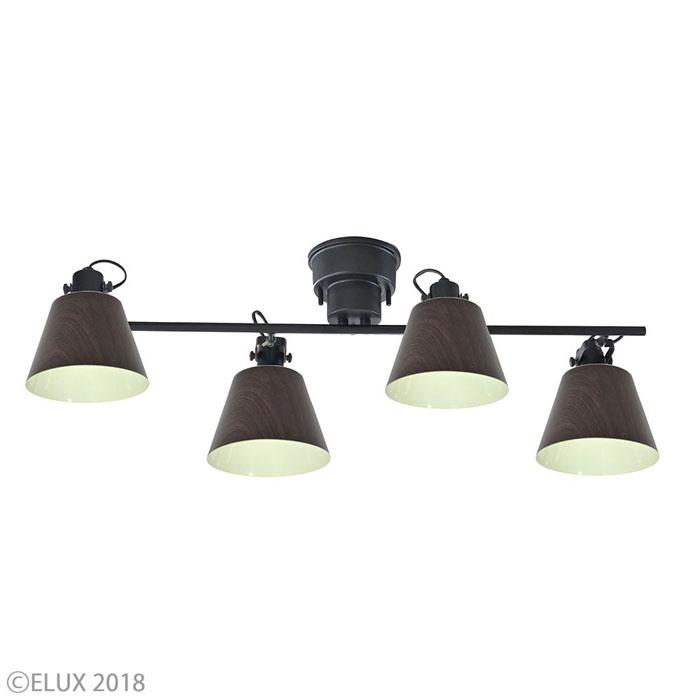 エルックス 【4灯シーリングスポットライト】フラッグス LC10929-BW