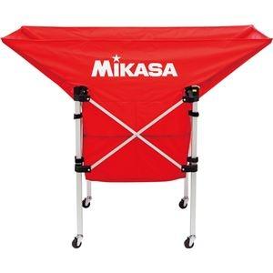 その他 MIKASA(ミカサ)【フレーム・幕体・キャリーケース3点セット】携帯用折り畳み式ボールカゴ(舟型) レッド【ACBC210R】 ds-2194735